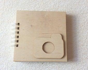Wooden cover album / blank small album / photo album / scrapbooking album / prints album