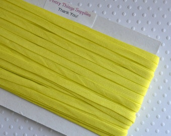 "1/4"" Narrow Yellow Elastic. Super Soft. 25 Yards."