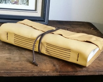 "Large Leather Journal, 6"" x 9"" Golden Honey Journal by The Orange Windmill on Etsy 1612"