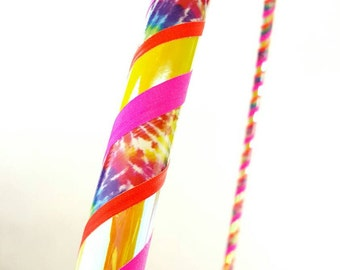 BEST SELLER Tie Dye Bliss Collapsible Hula Hoop / Made to Order / Unique Gift / Custom / Any Size or Tubing / Travel / Color Changing / glow