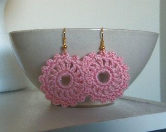 Pink Crochet Earrings. Handmade Earrings.