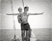 King of the World Boys Gay Art Male Art Print by Michael Taggart Photography black and white shirtless young love boyfriends sailing