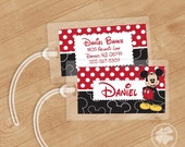 Mickey - Luggage Tag, Bag Tag, Backpack Tag, ID Tags, Personalized, Custom