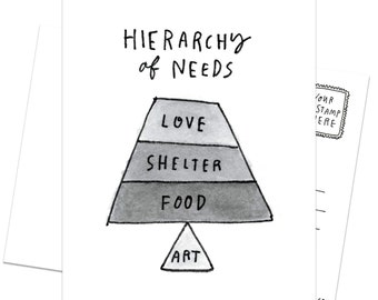 A Case (12-pack) of Postcards - Hierarchy of Needs