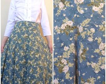 Polka Dots and Floral Skirt