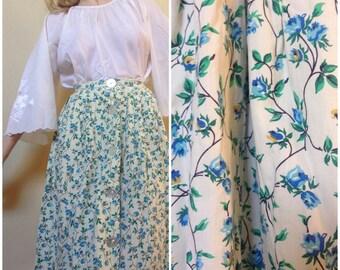 Juliet Flower A - Line Skirt