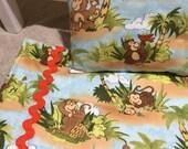 "Island Monkeys 18"" Blanket with Pillow"