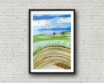 Golf Print - from the bunker - British Open - Hoylake - Royal Liverpool Golf Club - Hoylake - Print