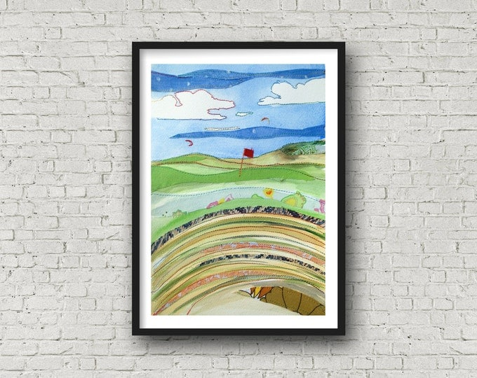 Golf Print - from the bunker - British Open - Hoylake - Royal Liverpool Golf Club - Hoylake - Print
