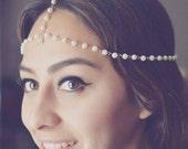 Pearl Headchain Wedding Headpiece