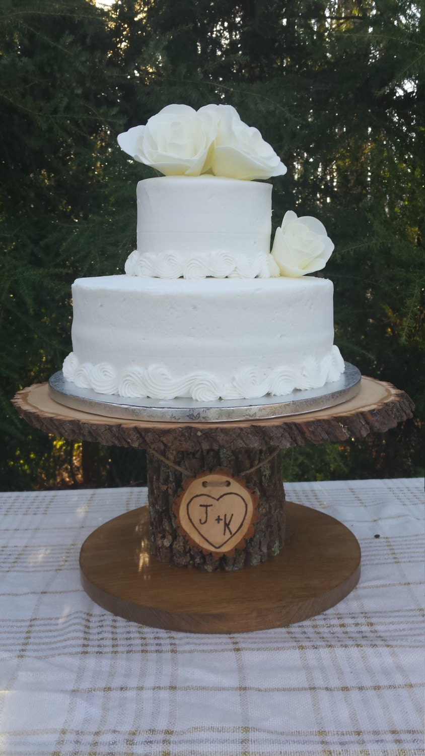 tree slice wedding cake stand wood cupcake stand personalized cake stand log cake stand 21253