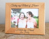 Personalized Maid of Honor Picture Frame: Personalized Maid of Honor Gift, Custom Maid of Honor Gift, Matron of Honor Frame, Engraved