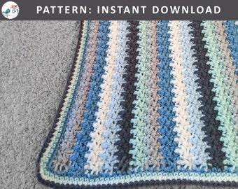 Striped Bubble Blanket! Crochet heirloom stripe baby blanket / afghan. Boy, Girl or unisex/neutral! Great for the crib, carseat, or stroller