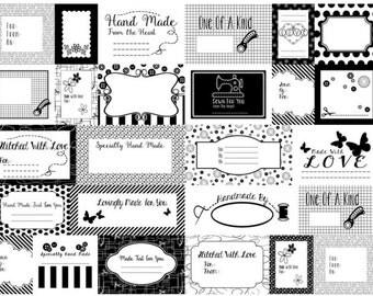 Studio E - Small Talk - Sewing Label Panel