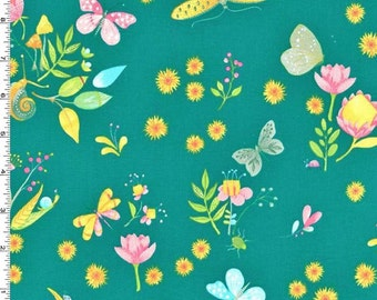 Michael Miller - Nature Walk by Tamara Kate - Little World - Teal