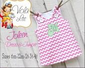 Joleen... Girl's Dress Sewing Pattern, A line Dress Pattern, pdf Pattern, Jumper Pattern, Toddler Dress Pattern, Aline Dress, Girl's Dresses