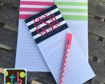 Personalized Monogram Magnetic Notepad
