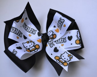 Pittsburgh Steelers Hello Kitty Hair Bow Football NFL