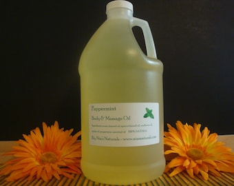 Peppermint Body & Massage Oil 100% Natural - 1/2 Gallon (64oz) FREE SHIPPING!