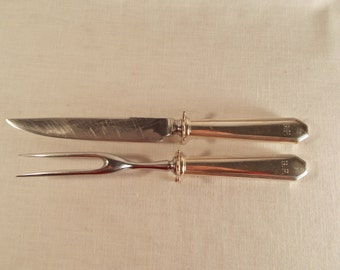 Sterling Handle 2 Piece Carving Set