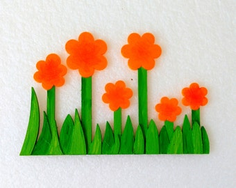 Magnets - Wall Art - Hand Oil Painted And 3D Print - Includes small pieces of Mount Tape As Alternative - Item Flower A
