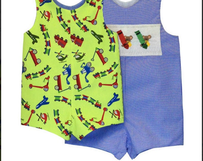 Childrens Corner Pattern / Johnny Pattern / Smocked Romper Pattern / Smocked Pattern / Boy's Pattern / Children's Corner  #260