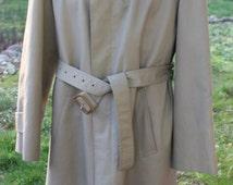 Men's Vintage Christian Dior Monsieur Rain Repellent Khaki Trench Coat Wool  liner 44R
