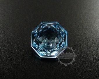 1pcs 12MM polygon shape fancy faceted cut natural sky blue topaz semi precious loose stone gemstone DIY ring earrings cabochon 4160002