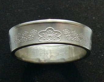 1992 Taiwanese Brass Coin Ring, Ring Size 9 1/2 and Double Sided