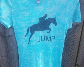 Equestrian Jump Burnout Tee