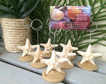 Starfish Picture Holder, Starfish Place Card Holder, Beach Wedding Placement Holder, Beach Wedding, Beach Picture Holder, Starfish Wedding