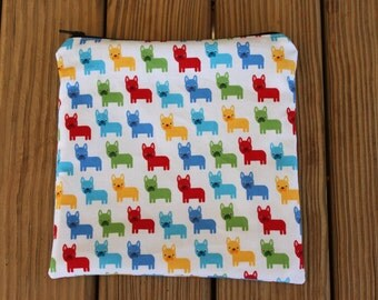 Reusable Sandwich Bag, Bulldogs - ZIPPER Sandwich Bag