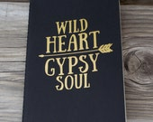 Wild Heart Gypsy Soul Lined Vinyl Decal Journal