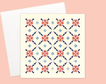 Scarlet Red Blossom Greeting card or greeting card set