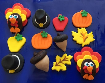 Fondant Toppers - Thanksgiving