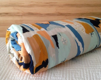 Baby Crib Travel Stroller Blanket Modern April Rhodes Bound Fabric