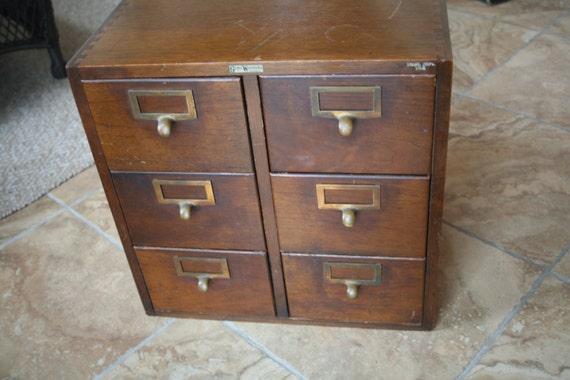 Vintage Library Catalog, Wedding Decor, Spring Decor, Storage, Office Globe Wernicke, Walnut Card Index Catalog