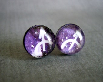 Sagittarius Stud Earrings : Zodiac Sign Jewelry