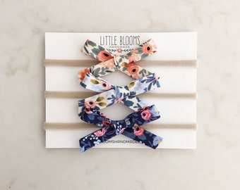 Floral Bows - nylon headband