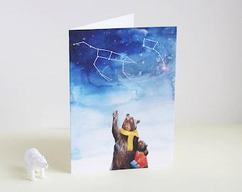 Ursa Major + Ursa Minor Greetings Card