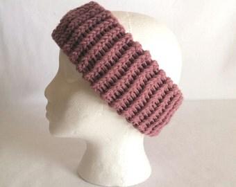 Knitted Ear Warmer Pattern Loom : Loom knit ear warmer Etsy