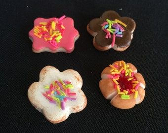 Set of 4 Polymer Clay  Pan Dulce