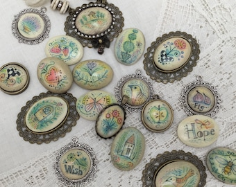 Online Class Whimsical Cabochons by Julie Haymaker Thompson