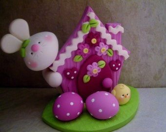 Bunny - Chick - Easter Eggs - Figurine