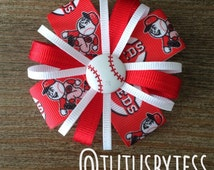 Cincinnati Reds Baseball Headband  Hair Bow