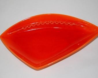 Royal Haeger Midcentury Atomic Orange Ashtray