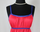 Vintage Vassarette Red and Blue Nightgown Juniors