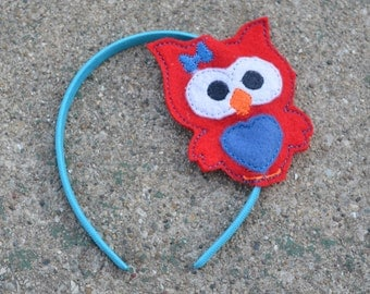 Owl Felt Headband Slider, Ready to Ship as Pictured
