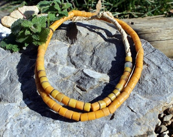 Vintage African Trade Beads, Pressed Glass, Sand Cast, Beads Traveling the Globe, T.28.