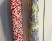 Yellow toile (no pocket) OR red damask Print yoga bag with pocket. **Ready to ship NOW!